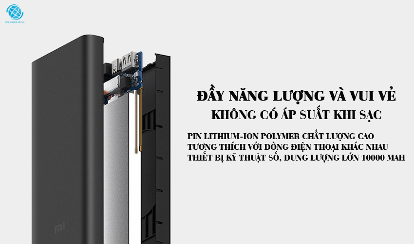 Pin sạc không dây xiaomi chính hãng hệ thống bảo vệ bất thường thông minh